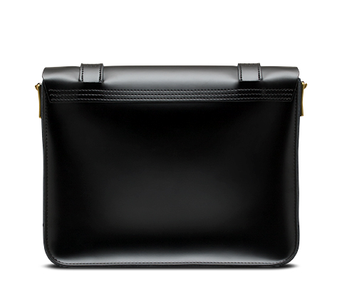 "11"" Leather satchel BLACK AB005009"