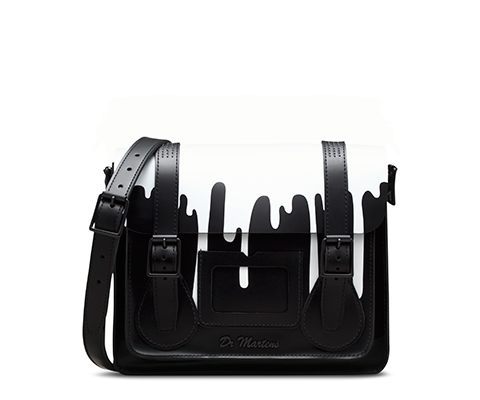 "11"" Leather satchel BLACK AB005012"