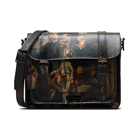 "11"" Leather satchel MULTI AB005106"