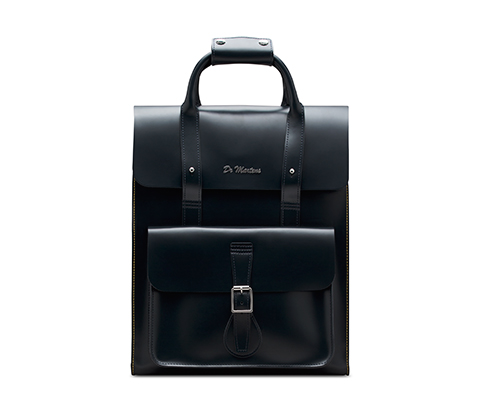 Leather Backpack NAVY AB012410