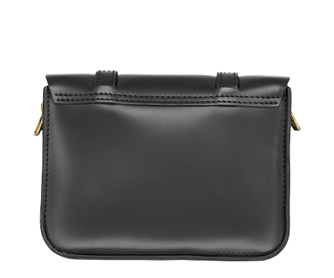 "7"" Leather Satchel BLACK AB017001"