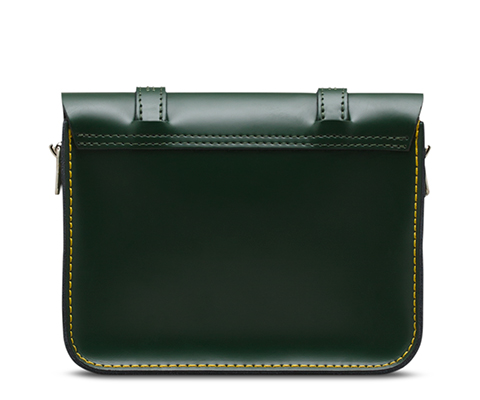 "7"" Leather Satchel GREEN AB017310"