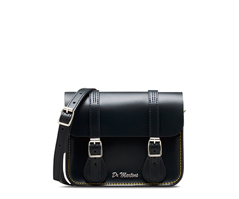 "7"" Leather Satchel NAVY AB017410"