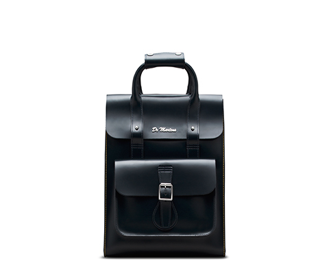 Small Leather Backpack NAVY AB020410