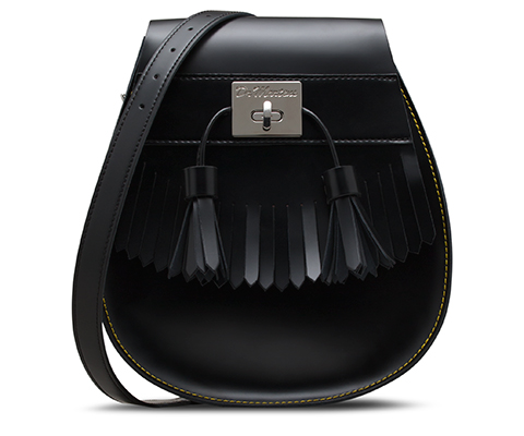 Tassled Saddle Bag BLACK AB021002