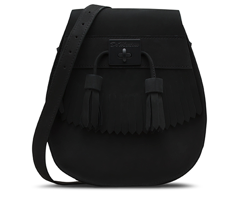 Tassled Saddle Bag BLACK AB021102