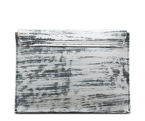 Fringe Clutch WHITE+BLACK AB034101