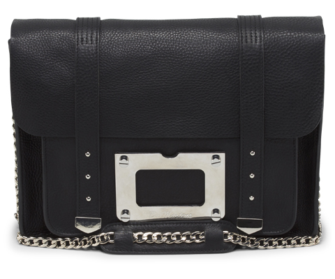 "13"" Satchel with hardware BLACK AB036001"