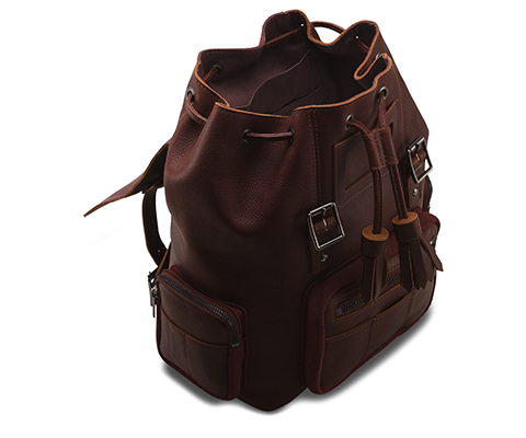 Medium Slouch Backpack OXBLOOD AB046601