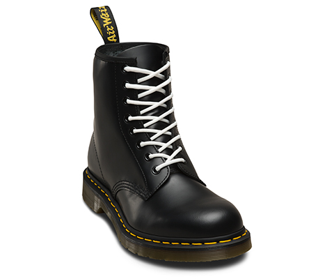 Shoes Bright Yellow Dots Lace Up Martin Boots For Women