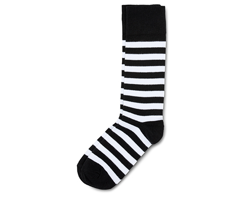 Thin Stripe Short Sock WHITE+BLACK AC226100