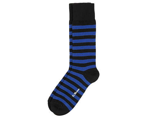 Thin Stripe Short Sock BLUE+BLACK AC226400
