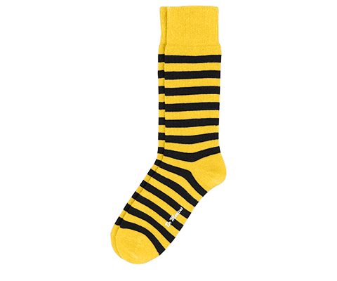 Thin Stripe Short Sock YELLOW+BLACK AC226601