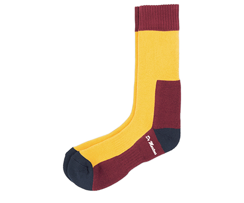 DOC'S SOCK YELLOW+NAVY+OXBLOOD AC237003