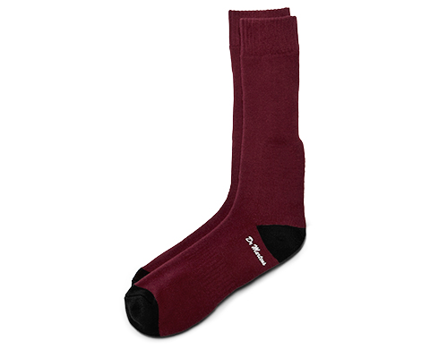 DOC'S SOCK OXBLOOD+BLACK AC304600