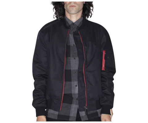 UNISEX COTTON BOMBER BLACK AC409001