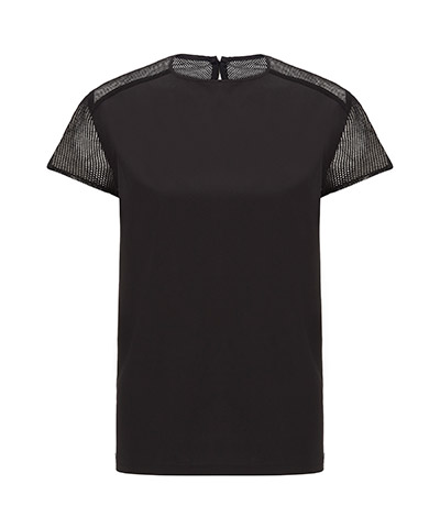 WOMEN'S MESH BACK TOP BLACK AC412001