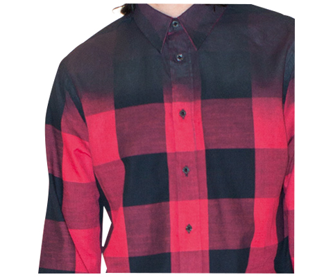 MEN'S LS GINGHAM RESIN SHIRT RED/BLACK GINGHAM AC437613