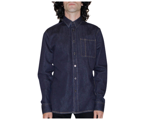 MEN'S CHAMBRAY SHIRT BLACK AC438001