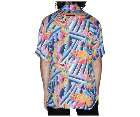 MEN'S HAWAIIAN STYLE SHIRT MULTI PSYCH PRINT AC441105