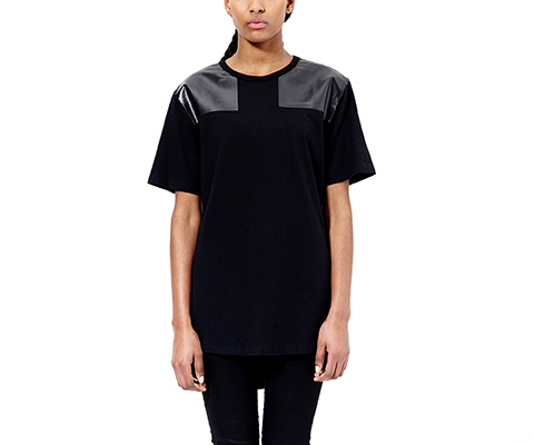 Unisex Elongated Resin T-Shirt BLACK AC454001