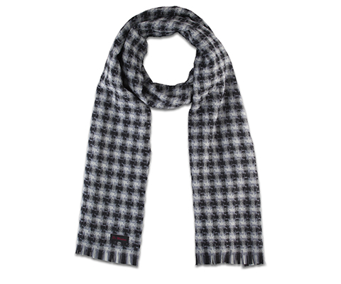 Wool Shadow Check Scarf GREY SHADOW CHECK AC478001