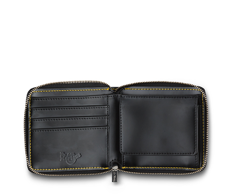 Men's Fold Zip Wallet BLACK AC509001