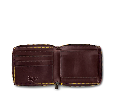 Men's Fold Zip Wallet CHERRY RED AC509601