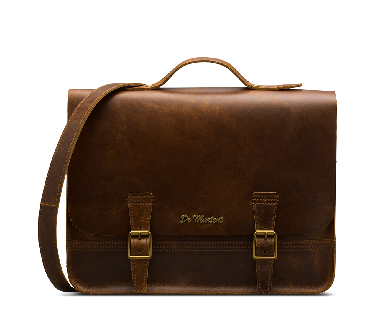 "15"" ORLEANS LEATHER SATCHEL BACKPACK"