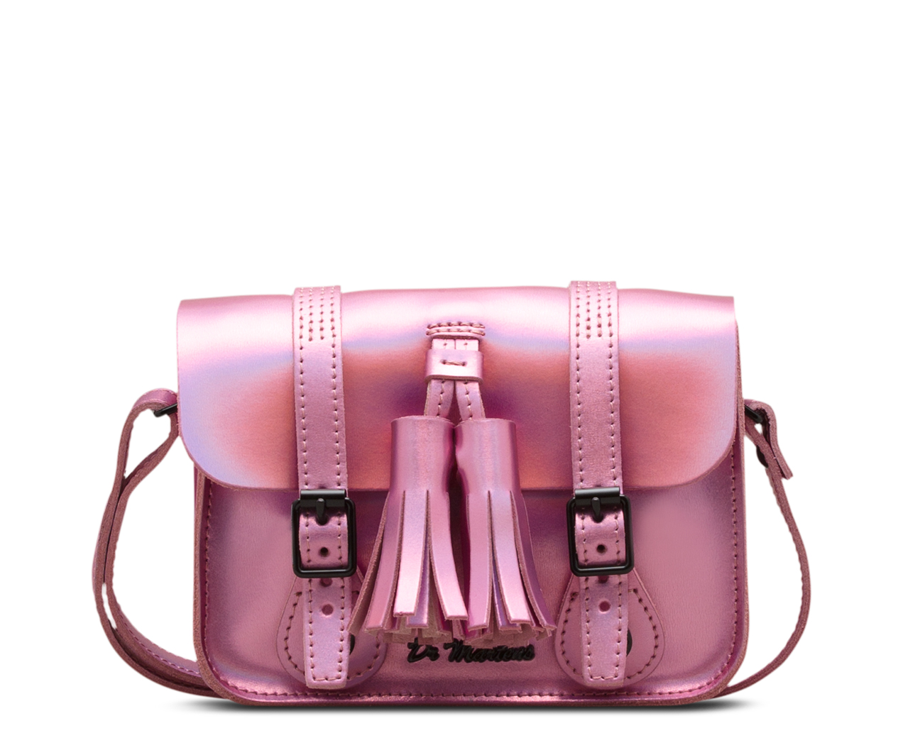 7 ICED METALLIC LEATHER SATCHEL