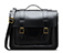 "15"" Leather satchel BLACK AB004009"
