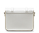 "7"" Leather Satchel WHITE AB017100"