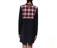 Womens LS T-Shirt Dress BLACK/GREY SHADOW CHECK AC342003