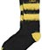 FLUFFY SHORT SOCK BLACK+YELLOW AC371003