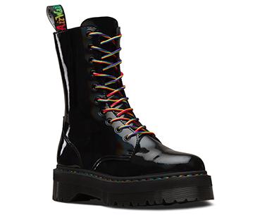 Dr. Martens Jadon Hi Rainbow Patent