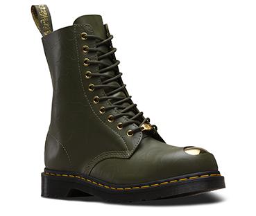 BAPE® 1490 スチールトゥ 10ホール ブーツ カーキ