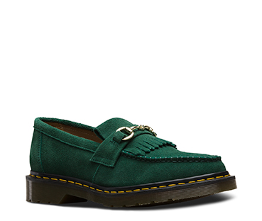 Dr. Martens X United Arrows Snaffle Loafer Bottle Green Hi Suede