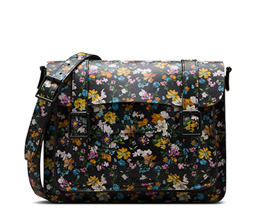 Darcy Floral 11in Leather Satchel