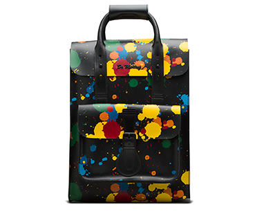 Small Paint Splatter Leather Backpack