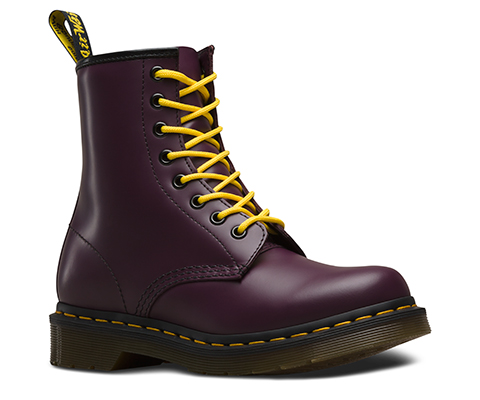 Black Boots with Yellow Stitching