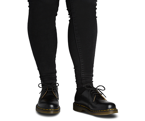 {11838002} Dr Marten/'s Unisex 1461 Black Smooth Shoes 3 Eye Classic *NEW*