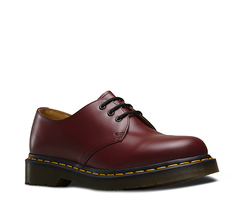 Dr Martens 1461 3 Eye Womens Cherry Red Leather Oxfords 11838600 Cherry Red
