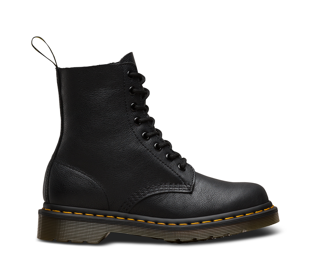 DR MARTENS AMBER LEATHER ZIP UP BIKER STYLE BOOTS - UK 8 / 42