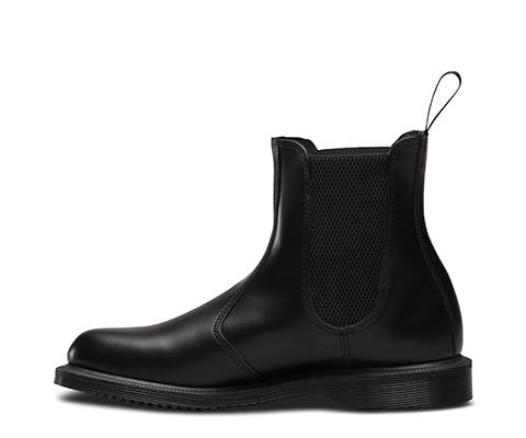 Dr. Martens FLORA Polished Smooth BLACK, Damen Chelsea Boots, Schwarz (Black), 37 EU (4 Damen UK)