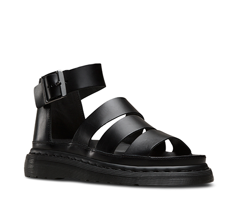 Popular Dr Martens Womens Connie Closed Toe Sandal Sandals In Black Greasy