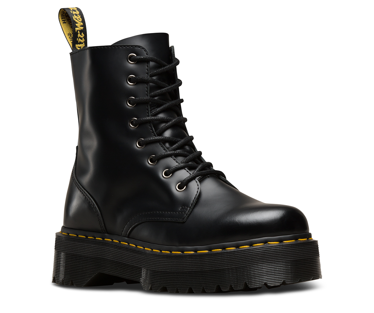 Men's Ankle Boots/Dr Martens Jadon 8Eye Boots Black Polished Smooth