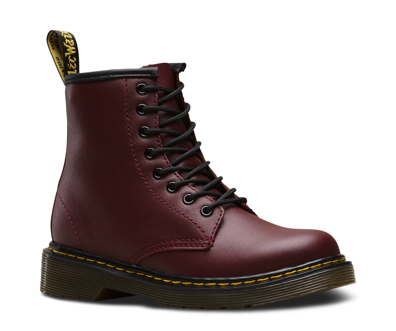 Unisex Dr Martens Boot Red Red Junior Cowhide Delaney Lace