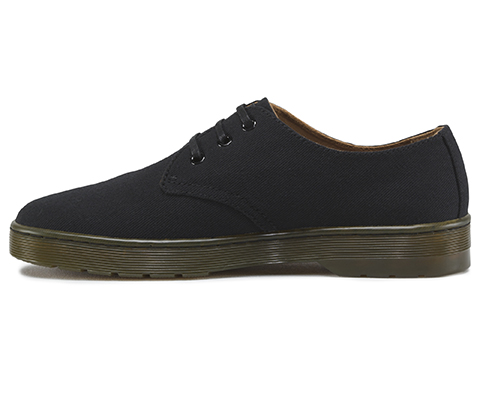 Delray Overdyed 3-Eye Shoes In Black - Black Dr. Martens cbwQn