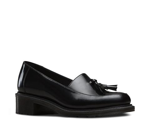 Dr.Martens Womens Favilla Stone Black Leather Shoes 37 EU cRPWm3
