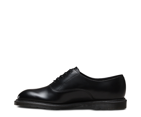 Fawkes Black Polished Smooth, Chaussures à Lacets Homme, Noir (Black Polished Smooth), 44 EUDr. Martens